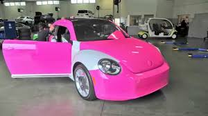 volkswagen new beetle pink timelapse custom pink wrap of vw beetle pacific volkswagen now