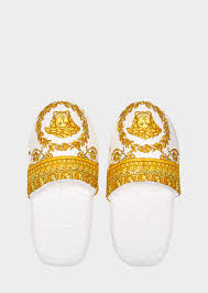 versace i baroque bath slippers home collection us online store