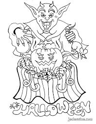 coloriages coloriage du monstre et la citrouille fr hellokids com