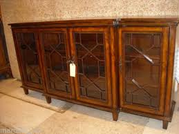 buffet cabinet with glass doors stylish inspiring winslow glass door long media stand pottery barn