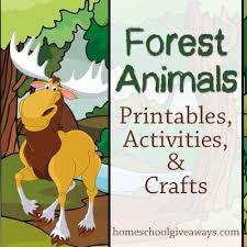 printable animal activities forest animals printables activities and crafts