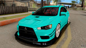 lancer mitsubishi 2008 mitsubishi lancer evolution x 2008 for gta san andreas