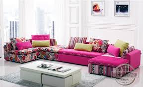 U Best Interior U Best Colorful Fabric Sectional Sofa Set Fashion Living Room