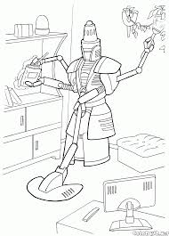 home cleaning robots coloring page home cleaning robot