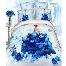 bedding set blue roses bedding price beautiful blue white