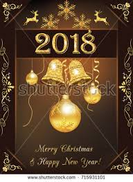 new year greetings card christmas 2018 new year greeting card stock illustration 715931101