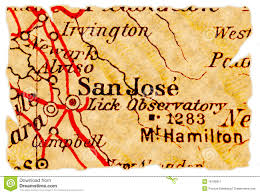 San Jose Map by San Jose Old Map Royalty Free Stock Photography Image 16789817