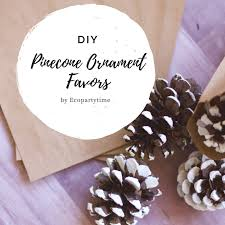 ornament favors diy pinecone ornament favors ecopartytime