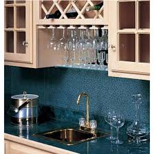 kitchen cabinet with wine glass rack omega national wood wine glass stemware racks for under cabinet or