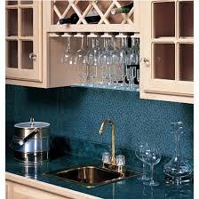 omega national wood wine glass stemware racks for under cabinet or