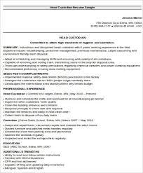 Janitor Job Description For Resume Sample Custodian Resume 8 Examples In Word Pdf