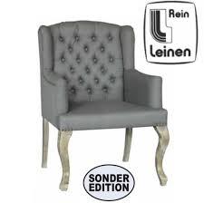 Esszimmerstuhl Mit Armlehne Grau Stühle Chesterfield Look Favola Einrichtungen Sitzmöbel