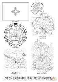 new mexico state symbols coloring page free printable coloring pages