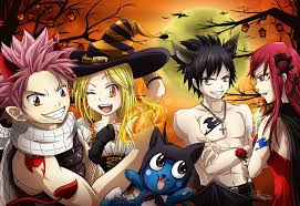 anime halloween wallpaper fairy tail gruvia halloween by 95tifany on deviantart fairy tail