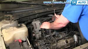 how to install repair replace alternator buick lesabre 3 8l 00 05