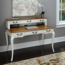 Solid Oak Desk With Hutch by White Desks Home Office Furniture The Home Depot