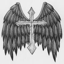 winged cross design by dellanova on deviantart