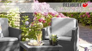 allibert chicago balcony set assembly video youtube