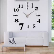 Home Decoration Stickers by 3d Wall Decor Diy Circle Around 3d Wall Clock Wall Sticker Diy
