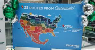 Frontier Flight Map Frontier Airlines Adds 6 New Destinations From Cvg