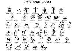 Glyph Symbol - candlekeep forum maerimydran drow houses and their glyphs