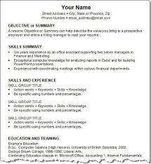 Action Verbs For Resumes Resume by Sample Winning Resumes Resume Samples For All Professions And