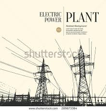 abstract sketch stylized background electric power stock vector