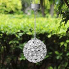 decorative hanging solar lights aria solar hanging crystal ball light
