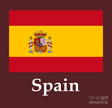 Spain Flags Spain Flag And Name Digital Art By Frederick Holiday