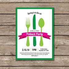 potluck invitation potluck party potluck invitation printable made to order