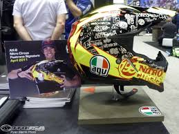 travis pastrana motocross gear 2011 helmet peek from the dealer expo photos motorcycle usa