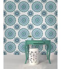 wallpops nuwallpaper jasmine medallion peel and stick wallpaper