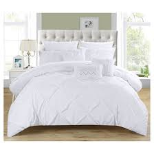 home design bedding valentina pinch pleated ruffled 10 comforter set chic