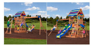 backyard discovery slide backyard discovery beach front wooden cedar swing set for 449 at