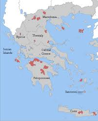Greece Map Blank by Greek Wine