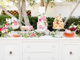 Wedding Cake Table Pink And White Wedding Cake Table Elizabeth Anne Designs The