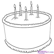 drawn cake simple pencil and in color drawn cake simple