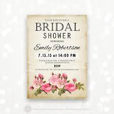 printable bridal shower invitation retro invite shower the bride