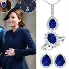 blue sapphire necklace sets images Kate middleton new sapphire jewelry sets jpg jpg