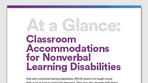 accommodations to help students with visual processing issues
