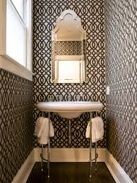 wallpaper designs for bathrooms 12 designer bathrooms for less hgtv