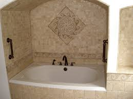 bathroom tub tile ideas door closed calm wall paint gray wood