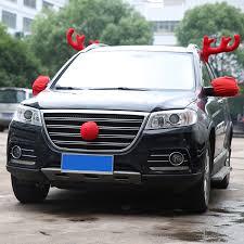 car antlers hawksoar christmas car decoration windows reindeer