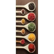 cuisine fond blanc sticker frigo cuisine cuillères en bois épices fond blanc 70x170cm