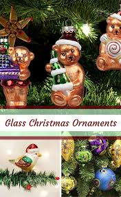 festive trendy and whimsical glass ornaments