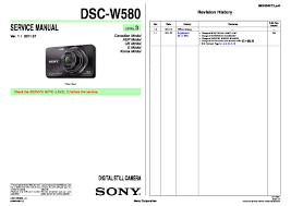 sony dsc w580 service manual free download