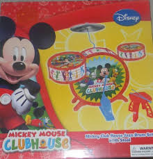 Mickey Mouse Clubhouse Bedroom Set Amazon Com Disney Mickey Mouse Clubhouse Jazz Drum Set With Stool