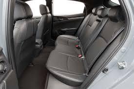 hatchback cars interior 2017 honda civic hatchback sport touring rear interior motor trend