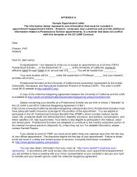 Intent To Hire Letter From Employer by Contract Uaw Local 5810 The Union For Over 6 000 Postdoctoral