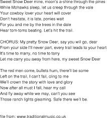 time song lyrics snow deer